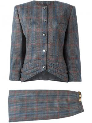Твидовый костюм с юбкой Louis Feraud Vintage. Цвет: разноцветный