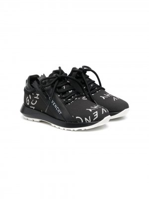 Кроссовки с логотипом Givenchy Kids. Цвет: черный