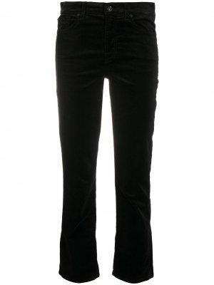 Прямые джинсы средней посадки 7 For All Mankind. Цвет: черный