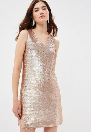 Платье Banana Republic. Цвет: золотой