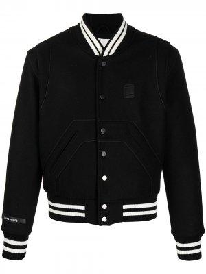 Спортивная куртка с отделкой в полоску Filling Pieces. Цвет: черный