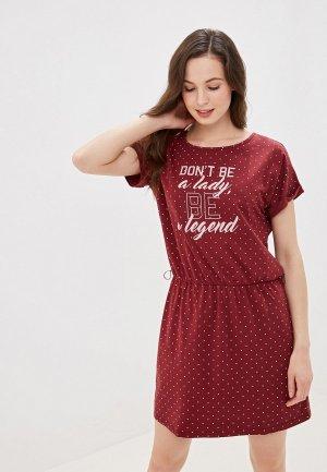 Сорочка ночная Vis-a-Vis. Цвет: бордовый