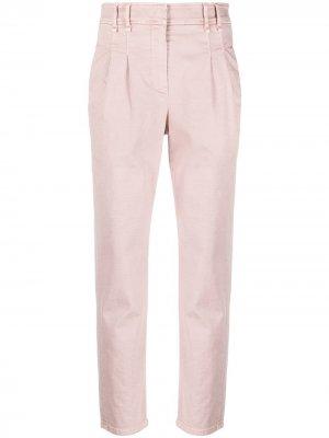 Зауженные брюки чинос Brunello Cucinelli. Цвет: розовый