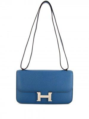 Сумка на плечо Constance Elan 2014-го года Hermès. Цвет: синий