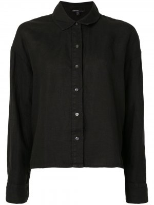 Рубашка свободного кроя James Perse. Цвет: черный