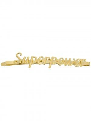 Заколка для волос Superpower Eshvi. Цвет: золотистый