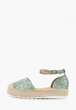Эспадрильи Ideal Shoes. Цвет: бирюзовый