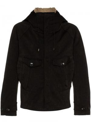 Куртка с капюшоном Ten C. Цвет: черный