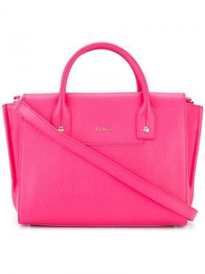 Большая сумка-тоут Linda Carryall Furla. Цвет: розовый и фиолетовый