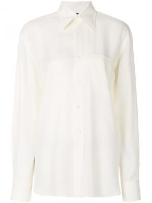 Креповая рубашка на пуговицах TOM FORD. Цвет: нейтральные цвета