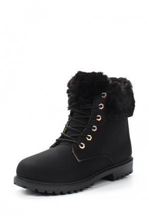Ботинки Exquily. Цвет: черный