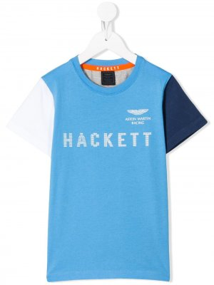 Футболка в стиле колор-блок Hackett Kids. Цвет: синий