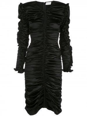 Коктейльное платье Pula со сборками Magda Butrym. Цвет: черный