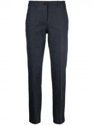 Укороченные зауженные брюки Emporio Armani. Цвет: синий