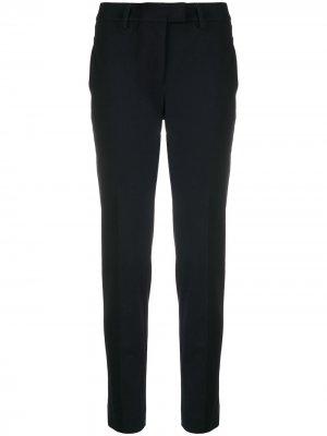 Классические брюки кроя слим Incotex. Цвет: синий