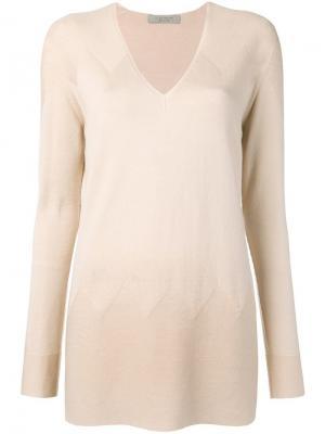 V-neck sweater D.Exterior. Цвет: нейтральные цвета