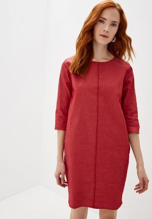 Платье джинсовое Massimiliano Bini. Цвет: красный