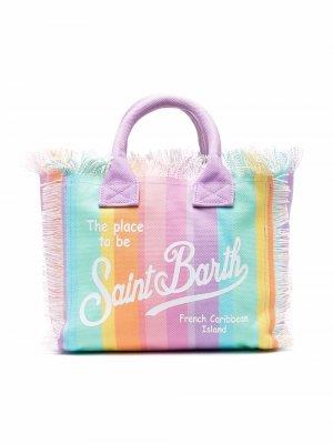 Пляжная сумка-тоут Colette Mc2 Saint Barth Kids. Цвет: розовый