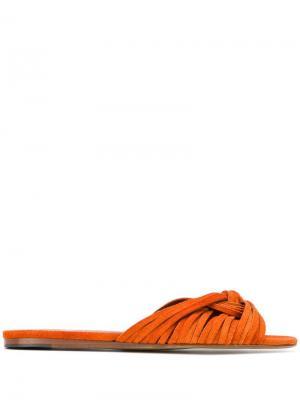 Шлепанцы с завязками Michel Vivien. Цвет: оранжевый