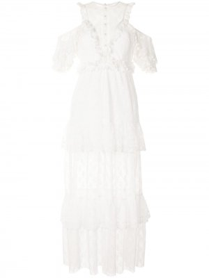 Кружевное платье макси Mamacita Alice McCall. Цвет: белый