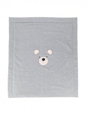 Одеяло с вышивкой Il Gufo. Цвет: серый