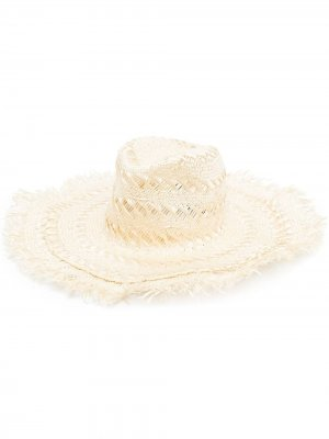 Шляпа с бахромой Borsalino. Цвет: нейтральные цвета