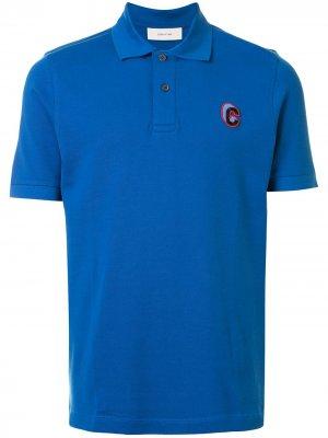 Рубашка поло с вышитым логотипом Cerruti 1881. Цвет: синий