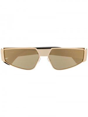 Солнцезащитные очки в тонкой оправе Moschino Eyewear. Цвет: золотистый