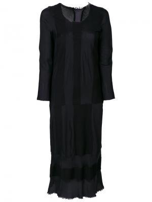 Длинное платье в полоску Comme Des Garçons Pre-Owned. Цвет: синий