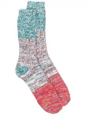 Носки Charlie в стиле колор-блок THUNDERS LOVE. Цвет: синий