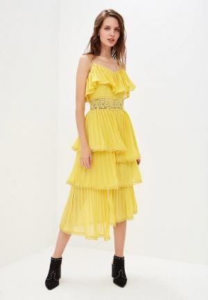 Платье True Decadence. Цвет: желтый