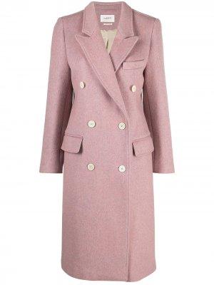 Длинное двубортное пальто Isabel Marant Étoile. Цвет: розовый