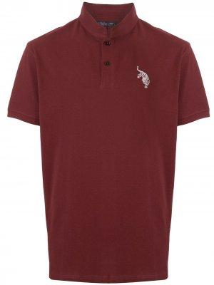 Рубашка-поло с вышивкой Shanghai Tang. Цвет: красный