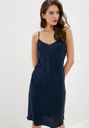Сорочка ночная Marks & Spencer. Цвет: синий