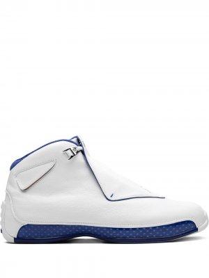 Кроссовки Air  18 Retro Jordan. Цвет: белый