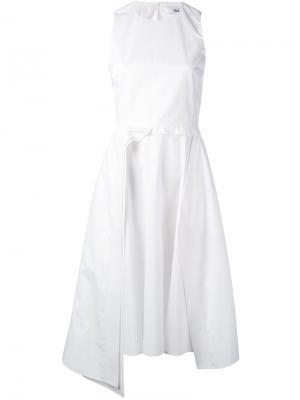 Многослойное платье без рукавов Chalayan. Цвет: белый