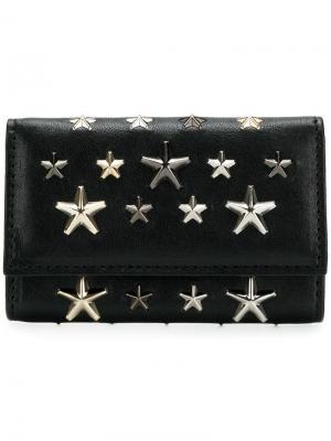 Футляр для ключей с заклепками в форме звезд Jimmy Choo. Цвет: черный