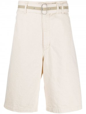 Джинсовые шорты широкого кроя Jil Sander. Цвет: нейтральные цвета