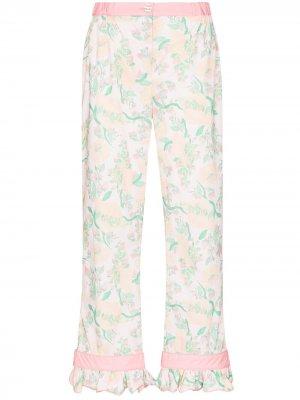 Пижамные брюки с принтом Helmstedt. Цвет: розовый