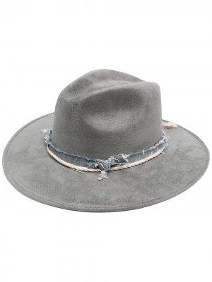Шляпа трилби MOUTY. Цвет: серый