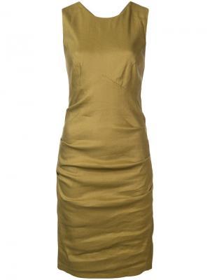 Платье по фигуре с перекрещивающимися лямками на спине Nicole Miller. Цвет: зеленый