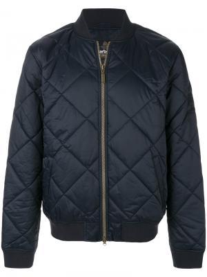 Стеганая куртка-бомбер Barbour. Цвет: синий