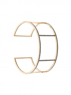 Браслет Cuff Wire из розового золота Ileana Makri. Цвет: золотистый