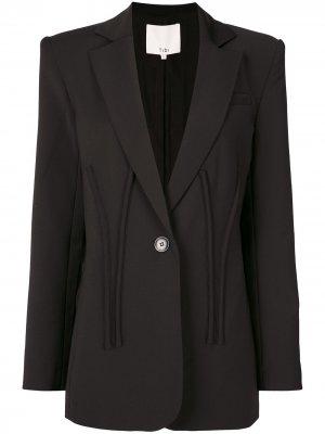 Пиджак с длинными рукавами Tibi. Цвет: черный