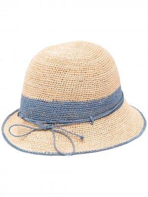Шляпа с бантом Helen Kaminski. Цвет: нейтральные цвета