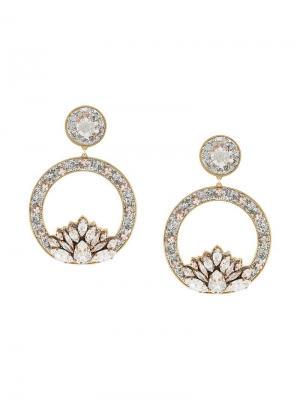 Hula hoop crystal earrings Shourouk. Цвет: металлик