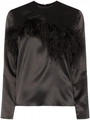 MarquesAlmeida блузка с перьями Marques'Almeida. Цвет: черный
