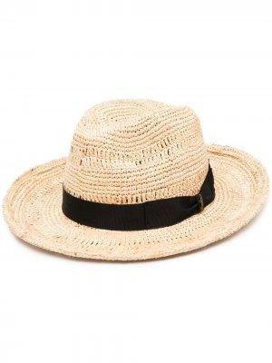 Соломенная шляпа Borsalino. Цвет: нейтральные цвета