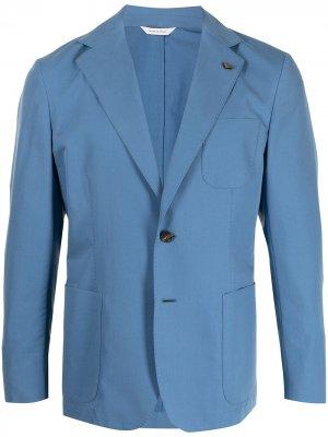 Однобортный пиджак Colombo. Цвет: синий