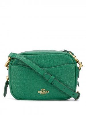 Каркасная сумка Coach. Цвет: зеленый